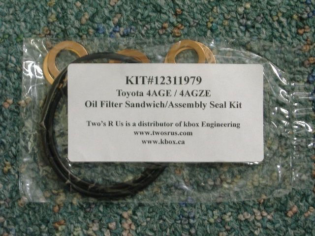 4AGE/GZE Oil Filter Sandwich Assembly Seal Kit | Twos R Us
