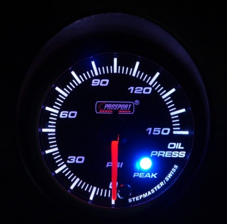52mm Electrical Oil Pressure Gauge With Warning And Peak